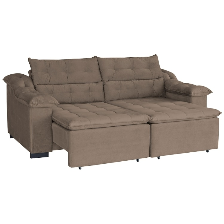 Admirable Sofa Retratil E Reclinavel 4 Lugares Influenza Suede 20003 Pdpeps Interior Chair Design Pdpepsorg