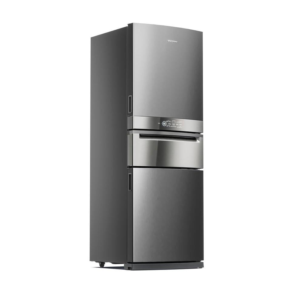 Geladeira/refrigerador 419 Litros 3 Portas Inox Control Pro - Brastemp - 220v - Bry59akbna